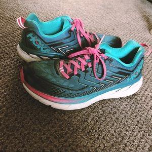Hoka Running Shoe Clifton 4 Womens 9.5 Bwidth Good